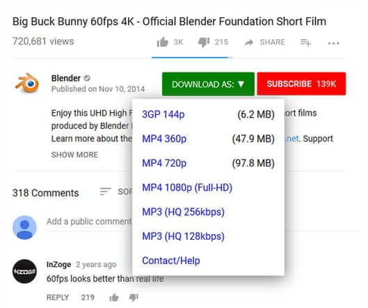 Download video YouTube dengan Easy YouTube Video Downloader Express