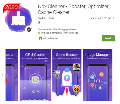 Nox Cleaner, aplikasi pembersih RAM Android