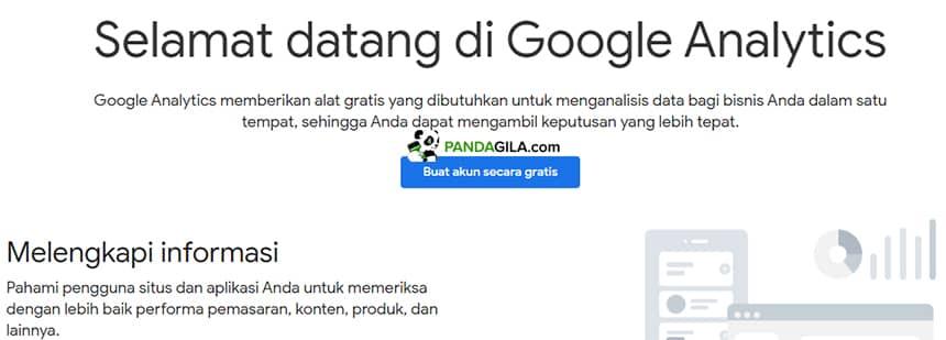 Membuat akun Google Analytics