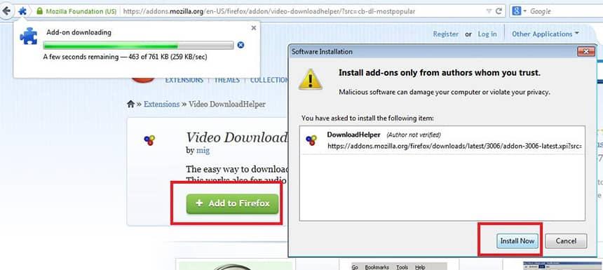 Install Video Download Helper untuk Download Video YouTube