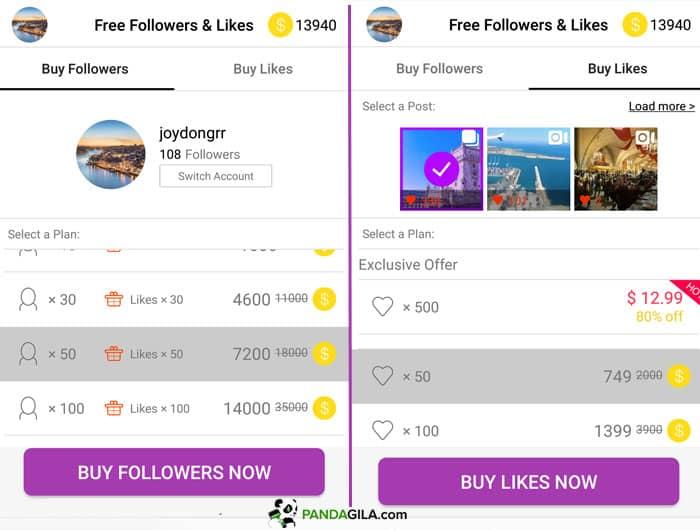 Cara mendapat follower dan like gratis dari GetInsta