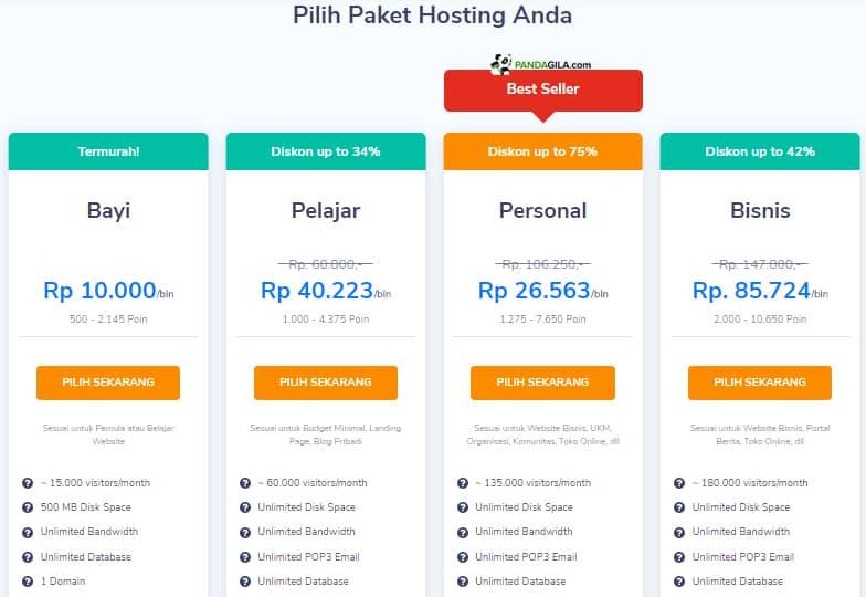 Pricelist Niagahoster, hosting Indonesia terbaik