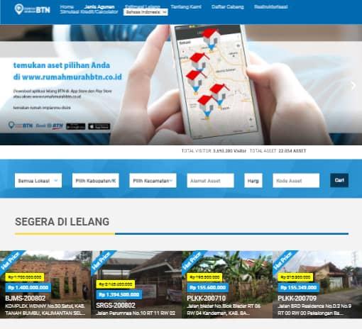 Landing page website properti BTN