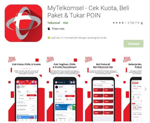 MyTelkomsel, aplikasi untuk cek pulsa, kuota dan masa aktif kartu