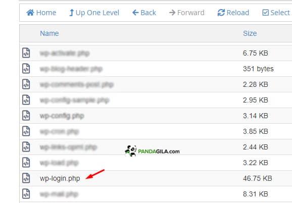 Mengedit file wp-login.php untuk mengubah url login wp-admin