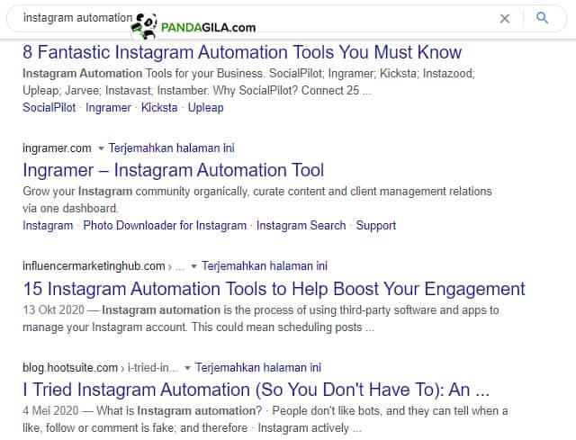 Meta description di hasil penelusuran mesin pencari