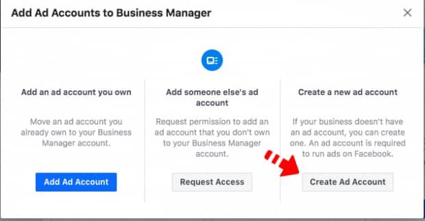 Membuat ad account di Facebook Business Manager