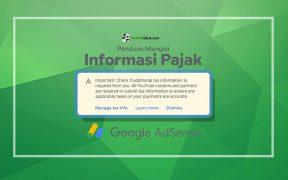 Panduan mengisi informasi pajak google adsense