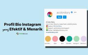 Membuat profil bio Instagram yang menarik dan efektif