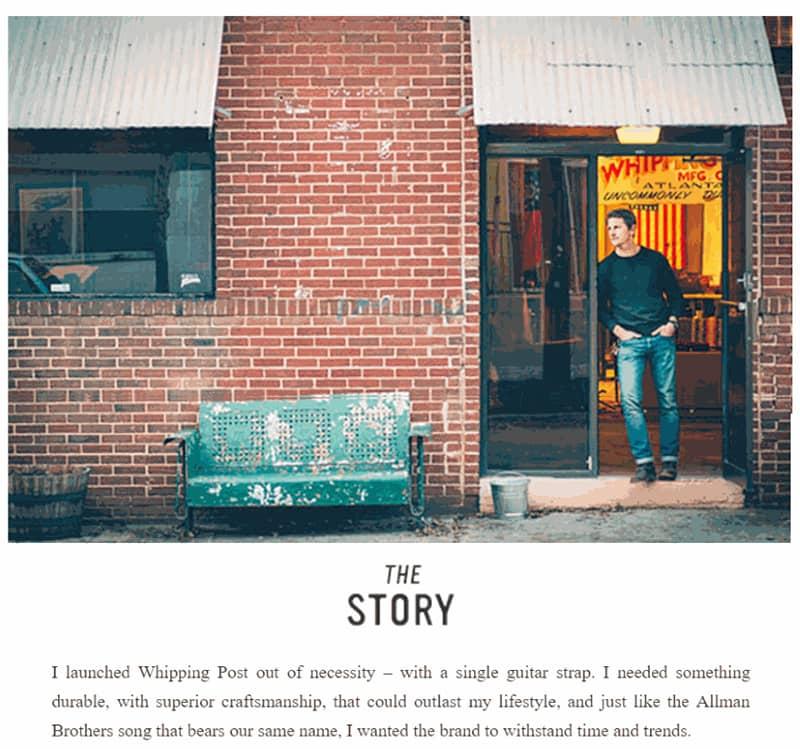Contoh penerapan Brand story email