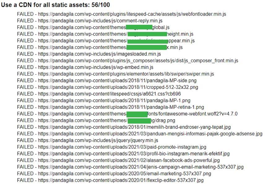 Analisa website sebelum menggunakan CDN