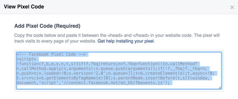 Kode Facebook Pixel