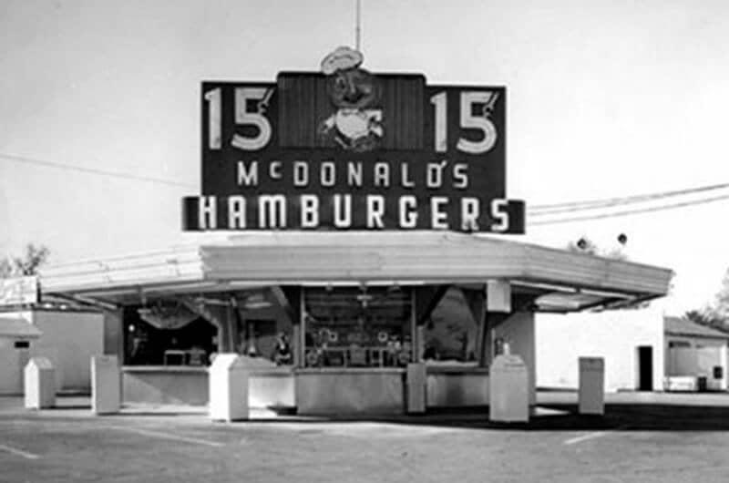 Tampilan McDonald's pertama Dick & Mac
