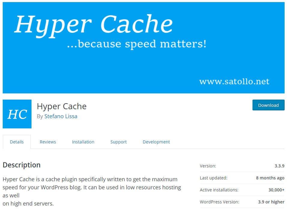 Plugin Hyper Cache