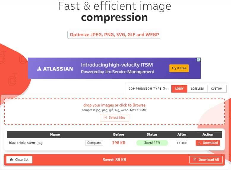 Mengecilkan ukuran gambar dengan Compressor.io