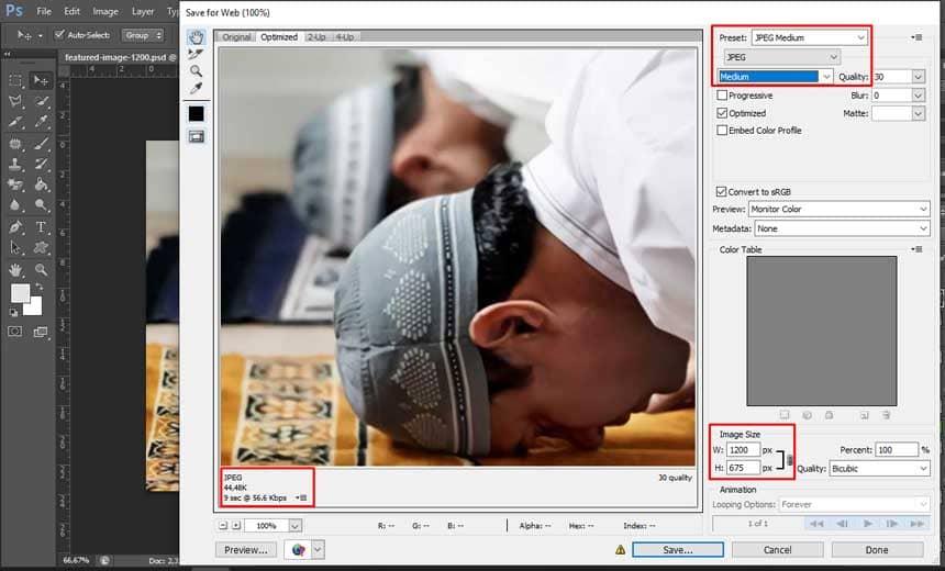 Cara Optimasi ukuran gambar di Adobe Photoshop