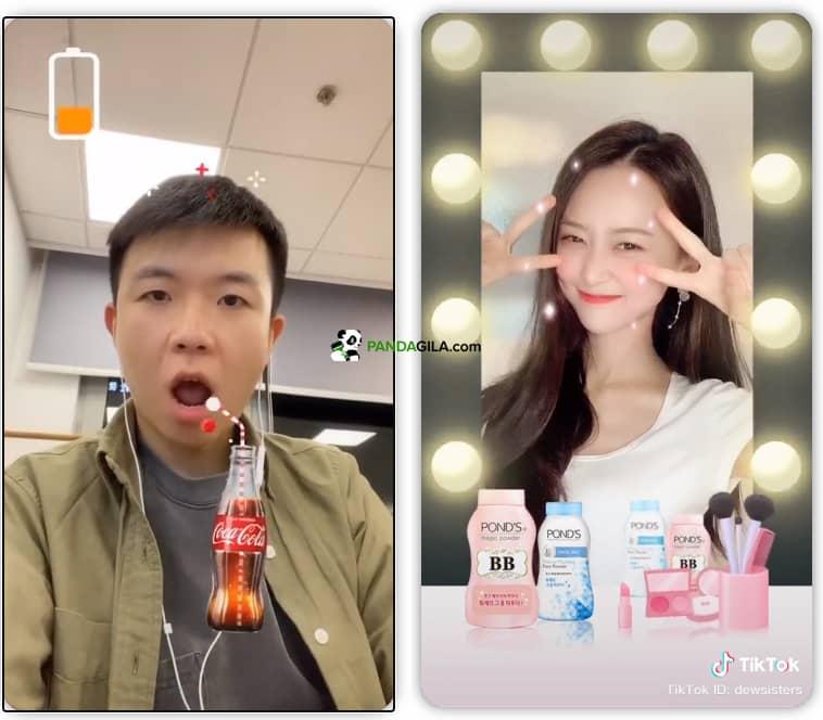 Brand Augmented Reality di TikTok Ads