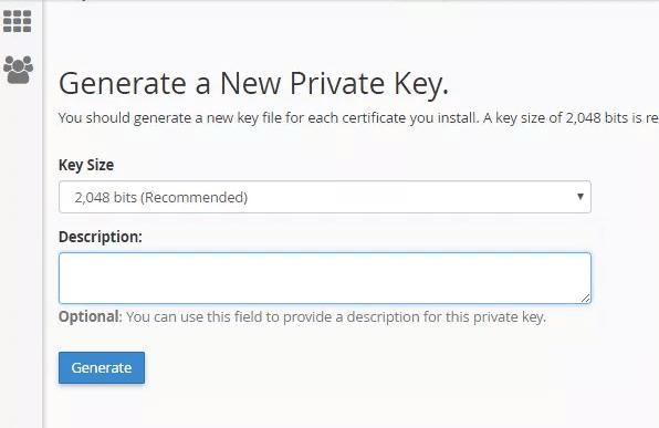 Generate Private Key di SSL