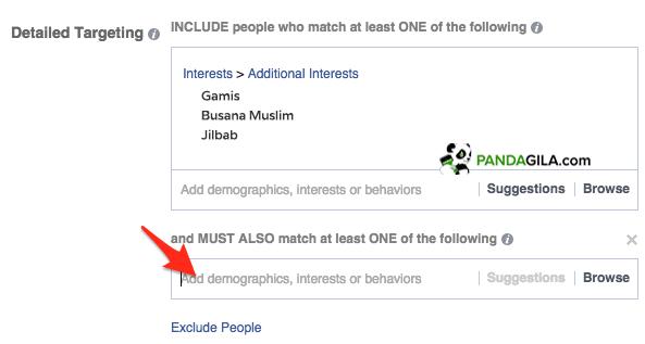Targeting Audience Facebook dengan Must Also Match