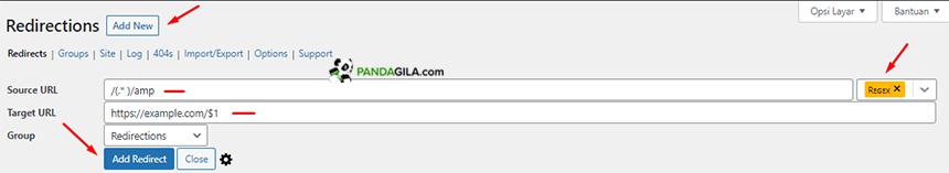 Membuat redirect untuk laman AMP di website