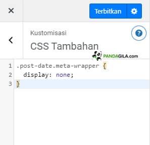 Mengganti Class Name dan Tempel di CSS Tambahan