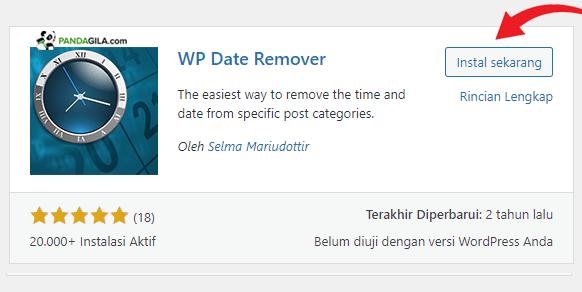 Plugin WP Date Remover